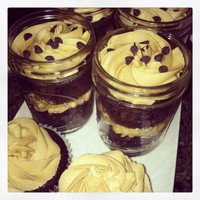 Chocolate Cookie Dough 8 oz Jarcake of 2 Jar cakes - Chocolate Cupcakes