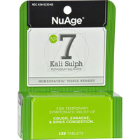 Nuage Labs Number 7 Kali Sulph - 125 Tablets