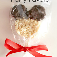 Mickey Mouse Party Favors, Mickey Mouse Party Snacks, Mickey Mouse Rice Krispie Treats
