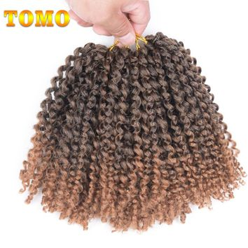 "TOMO 8"" 20strands/pack Freetress Synthetic Hair Crochet Braids 3Packs 6Packs 9Packs Ombre Braiding Hair Extension"