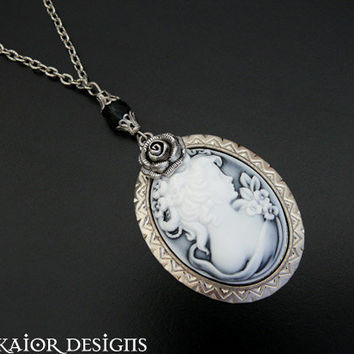 Victorian Cameo Necklace Gothic Bridal Jewellery for by skaior