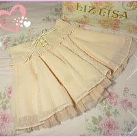 Liz Lisa Textured Chiffon Tulle Satin Skirt from Kawaii Gyaru Shop