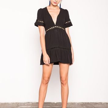 Verona Dress - Black | Stone Cold Fox