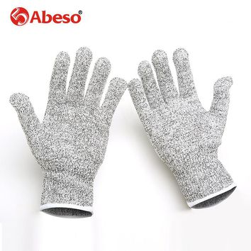 High strength Polyethylene material Wire Safety Work Anti-Slash Cut Static Resistance Wear-resisting Protect Gloves Hand Safely