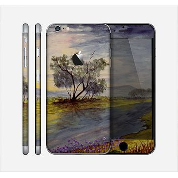 The Watercolor River Scenery Skin for the Apple iPhone 6 Plus