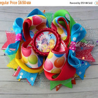 ON SALE My Little pony Bow - My Little pony Birthday - Over the Top Bow - My Little pony party - Girls Hair Bows