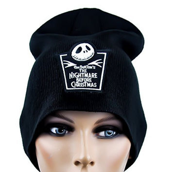 Nightmare Before Christmas Tombstone Beanie Cap