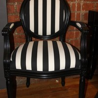 www.roomservicestore.com - Striped Louis Armchair