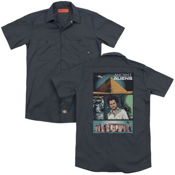 Ancient Aliens - Aliens Comic Page (Back Print) Adult Work Shirt