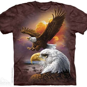 New EAGLE IN SUNSET CLOUDS T SHIRT