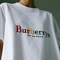 '' Burberry '' Women Simple T-shirt