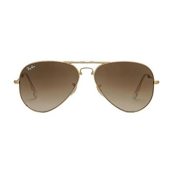 Ray-Ban Folding Aviator in Brown