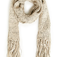 DailyLook: Classic Two Tone Scarf in Beige