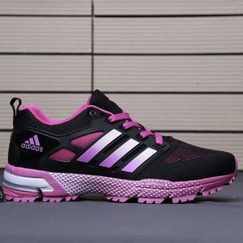 ADIDAS 2018 new jogging shoes marathon sneakers sneakers F-AHXF black+pink