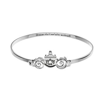 Disney's Cinderella Silver-Plated Coach Bangle Bracelet