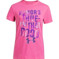 Under Armour Girls' Rumors True Graphic T-Shirt