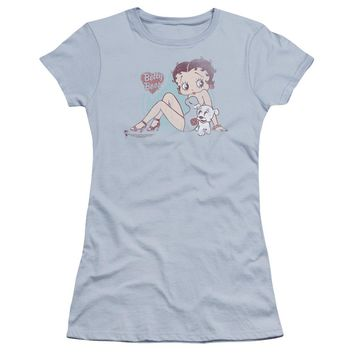 Betty Boop - Vintage Pin Pup Premium Bella Junior Sheer Jersey