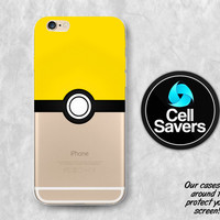 Instinct Pokeball iPhone 6s Case iPhone 6 Case iPhone 6 Plus iPhone 6s Plus iPhone 5c iPhone 5 iPhone SE Case Pokemon Team Yellow Pokeball