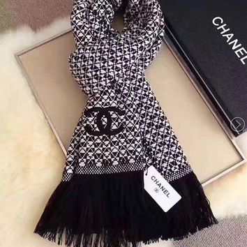 DCCKN7K Chanel  Women Smooth Cashmere Warm Winter Cape Scarf Scarves