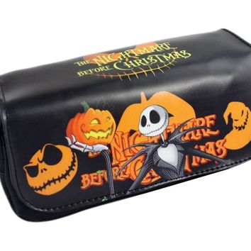 The Nightmare Before Christmas Girls Cartoon Pencil Case Bag School Pouches Children Student Pen Bag Kids Purse Wallet Gift