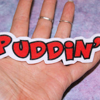 Puddin' Harley Quinn Iron On Patch MTCoffinz