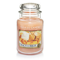 Peach Cobbler Large Jar Candle By Yankee Candles
