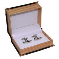 Men Sharks Stainless Steel Cuff Links Cufflinks