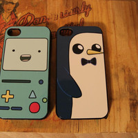 beemo / gunter Adventure time Apple Iphone 4 / 4s case finn jake cake fionna carto