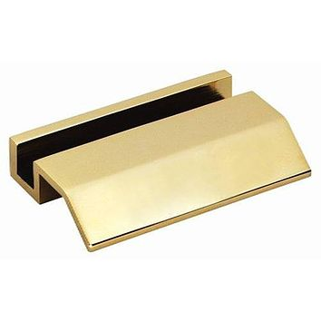 Personalized Free Engraving Heavy Goldtone Business Card Holder