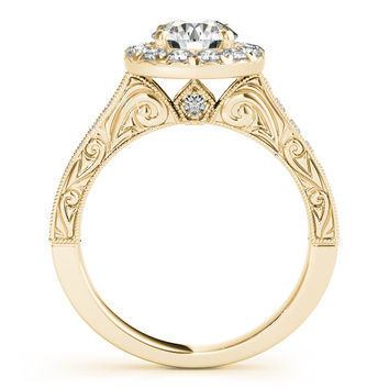 Moissanite Engagement Ring Diamond Setting - Tulip Kisses