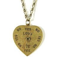 he loves me not necklace