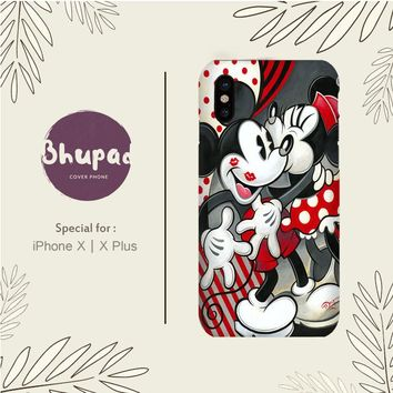 MICKEY MOUSE AND MINNIE MOUSE KISS WALLPAPER IPHONE X