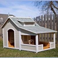 Precision Outback Savannah Dog House with Porch | www.hayneedle.com