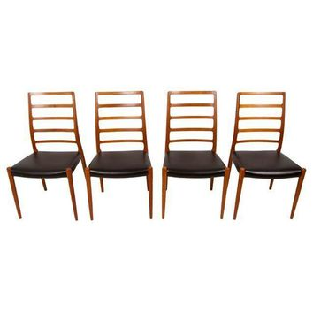 Pre-owned Danish Teak Niels Moller Dining Chairs - Set of 4