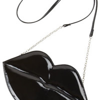 Lip Crossbody Bag - Black
