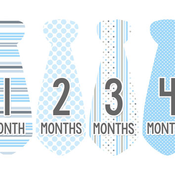 Months In Motion Baby Boy Monthly Stickers Milestone Month Sticker Tie Boys 744