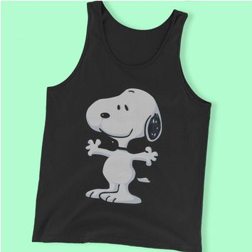 The Peanut Gang Happy Snoopy Men'S Tank Top