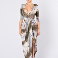 Tie Dye Dream Dress - Olive