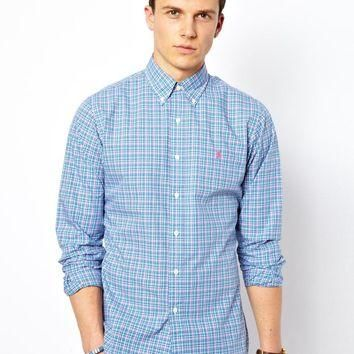 Polo Ralph Lauren Shirt in Madras Check Slim Fit