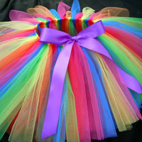 Rainbow Twist Tutu by JujuBoutique on Etsy