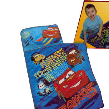 Disney Cars 2 Lighting McQueen Friends Toddler Nap Mat