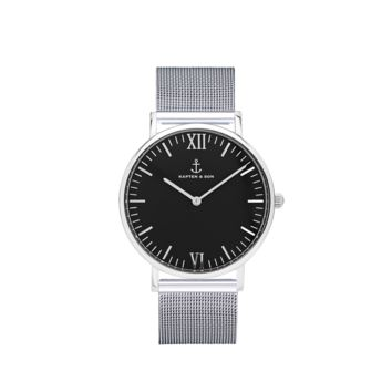"Campus Silver ""Black Mesh"" - Campus Black - Watches"