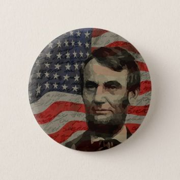 Lincoln day pinback button