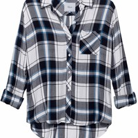 Rails Hunter Plaid Shirt in White/Navy/Sapphire