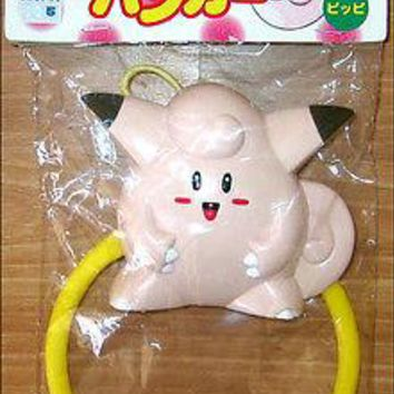 Pokemon Clefairy Bath Door Clothes Towel Hanger Bathroom TOY FIGURE Tomy JAPAN