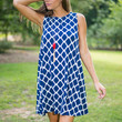 Saw You There Dress, Navy
