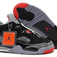 Cheap Nike Air Jordan Son Of Mars Low Shoes Black Red Grey