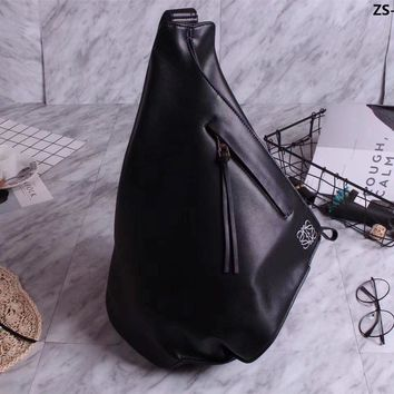 Ready Stock Loewe Lovers Style Leather Cross Body Backpack Bag #784