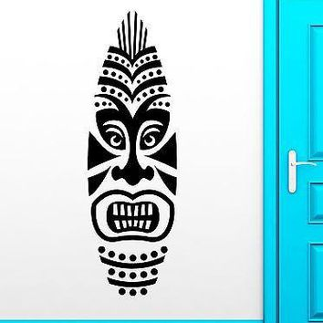 Wall Sticker Vinyl Decal Surf Boards Tiki Mask Design Surfing Extreme Unique Gift (ig2208)