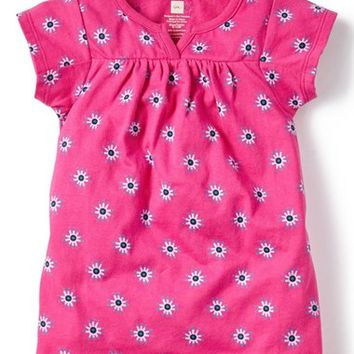 Infant Girl's Tea Collection 'Cotoca' Print V-Neck Dress,